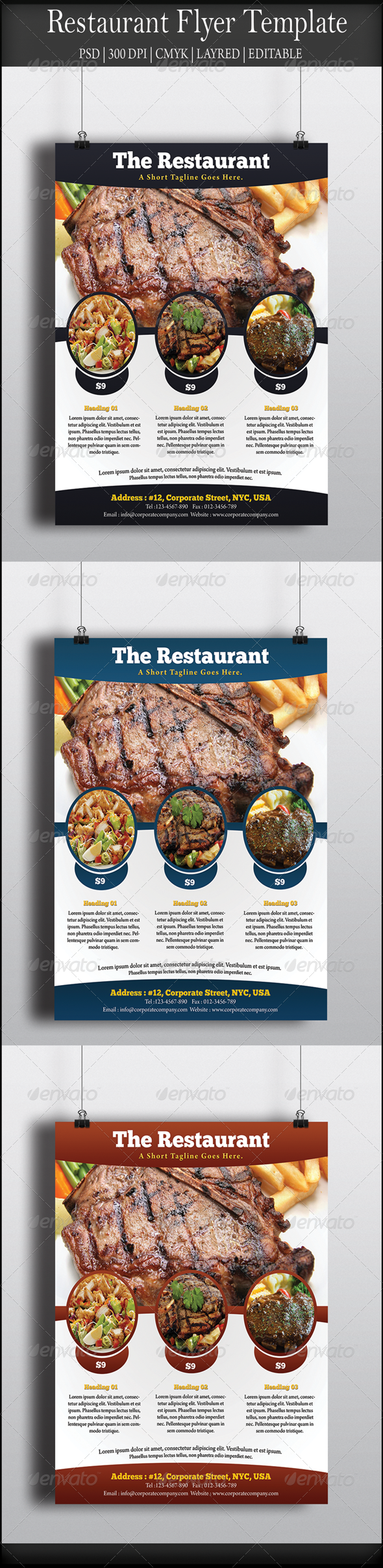 GraphicRiver Restaurant Flyer 8058260