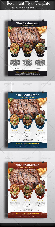 GraphicRiver Restaurant Flyer 8058260