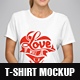 Female T-Shirt Mockup v.2 - GraphicRiver Item for Sale
