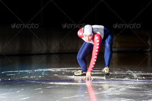 Speed skating start - Stock Photo - Images