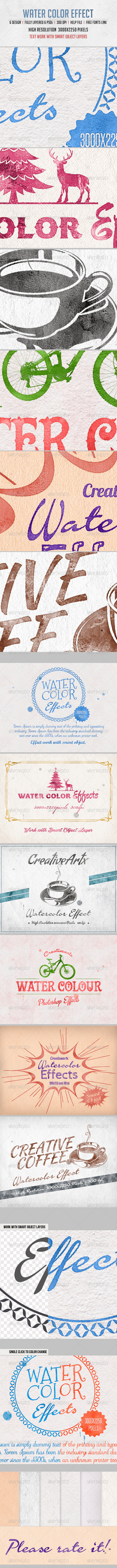 GraphicRiver Water Color Effects 8054679