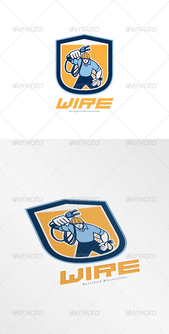 GraphicRiver Wire Certified Electricians Logo 8058398