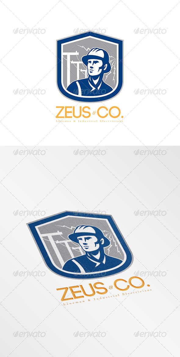 GraphicRiver Zeus Industrial Electricians Logo 8058417