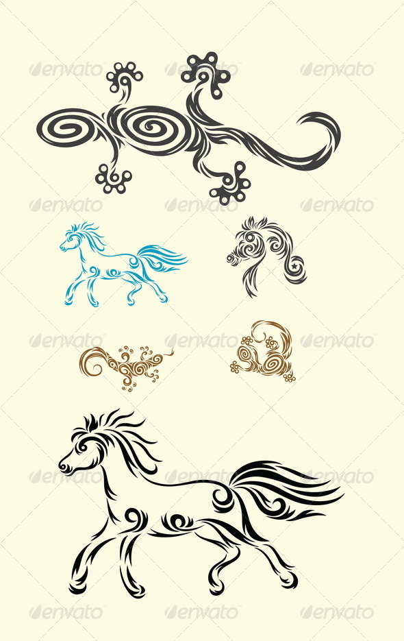 GraphicRiver Lizard and Horse 8058550