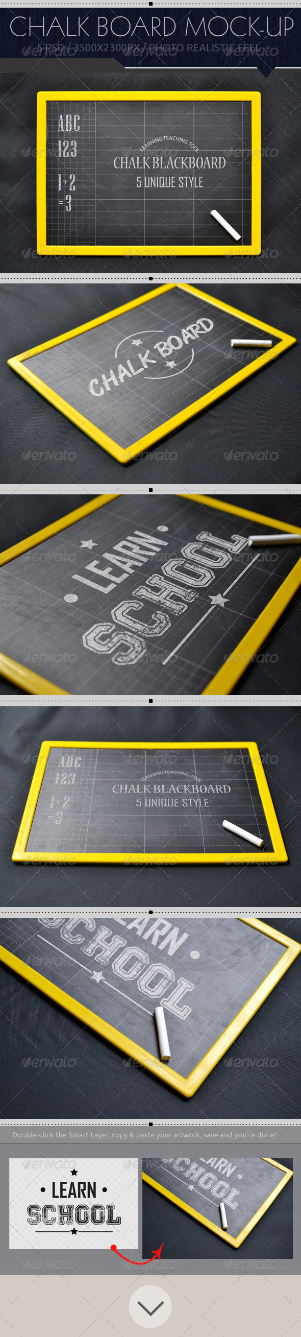 GraphicRiver Realistic Chalkboard Mock-Up 8058583