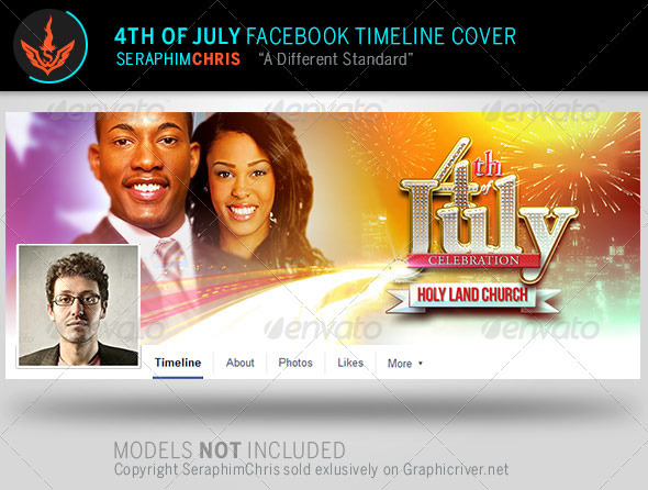 GraphicRiver 4th of July Facebook Timeline Cover Template 8058585