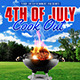 4th of July Cook Out Flyer - GraphicRiver Item for Sale