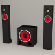 Subwoofer Satellites Speaker Set - 3DOcean Item for Sale