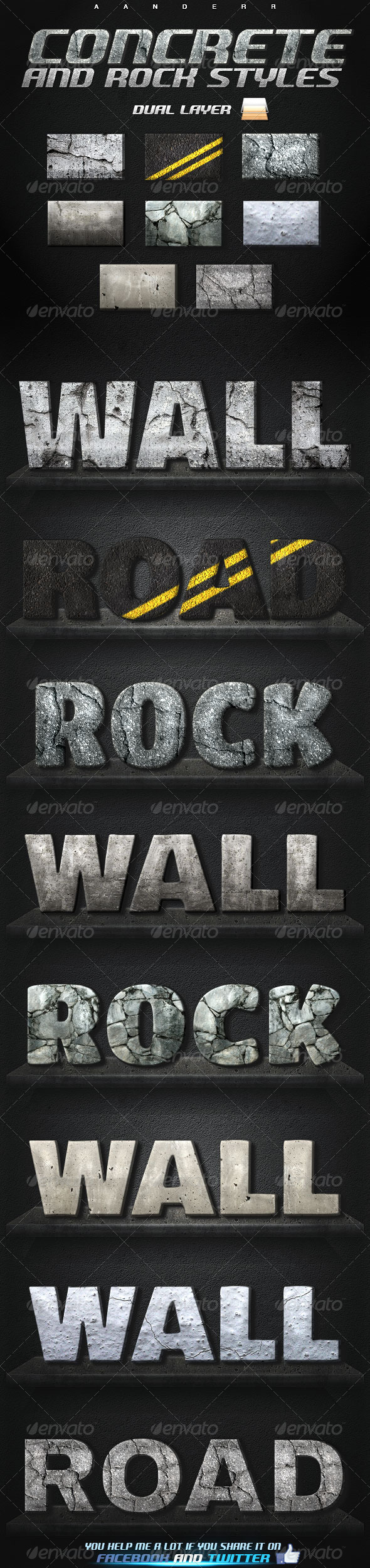 GraphicRiver Concrete and Rock Styles 8058658