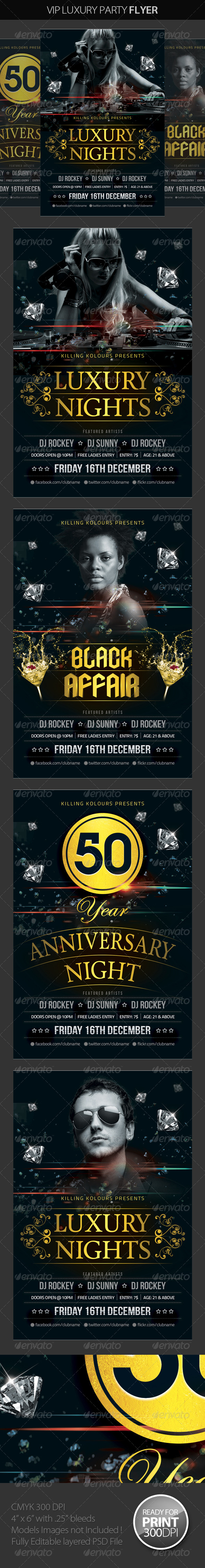 GraphicRiver VIP Luxury Party Flyer 8059488