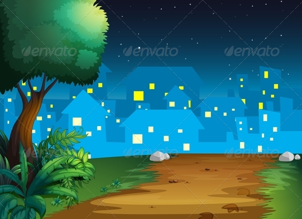 GraphicRiver Town at Night 8059759