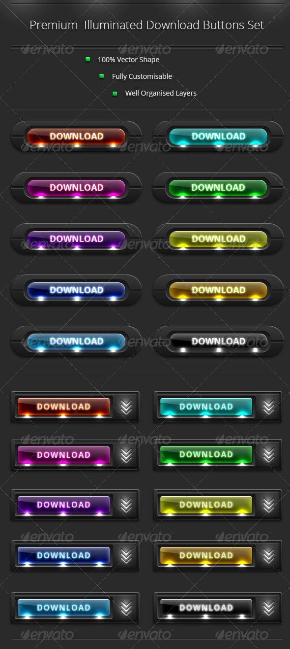GraphicRiver Download Buttons Set Vol 3 8059837