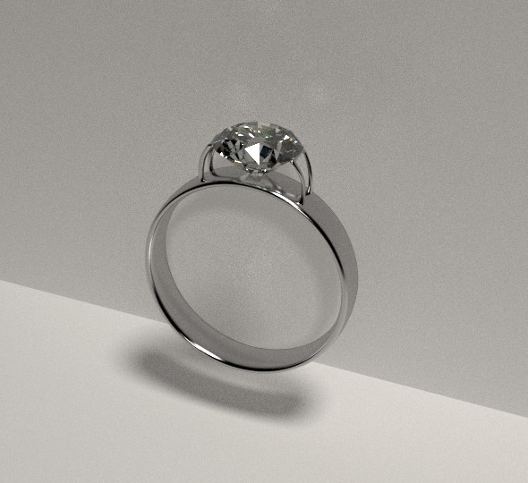 3DOcean Diamond Ring silver 8059838