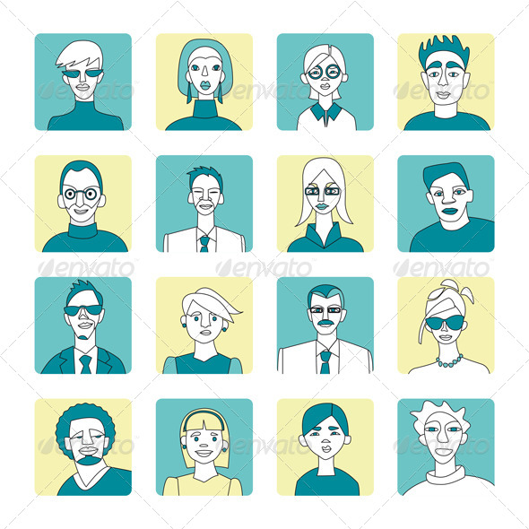 Blue and Yellow Avatar Set