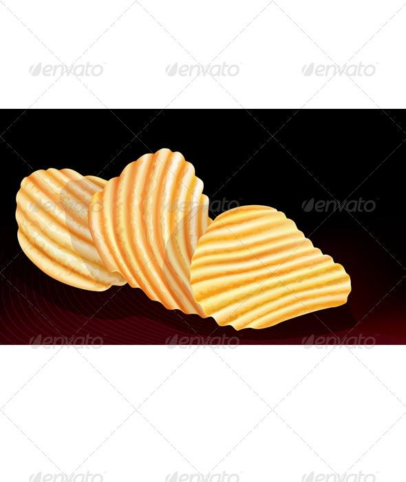 GraphicRiver Potatos Chips on Black 8060269