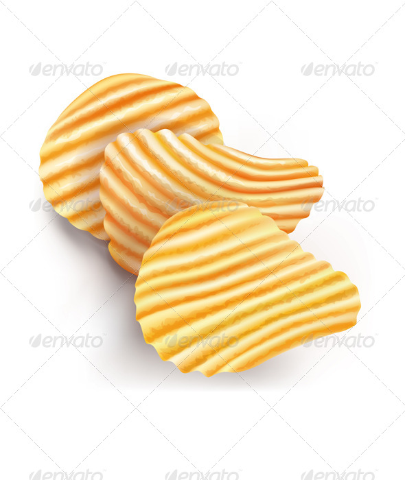 GraphicRiver Potatos Chips on White 8060270