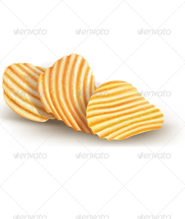 GraphicRiver Potatos Chips on White 8060286