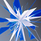 Blue Star Made Of Triangles  - VideoHive Item for Sale