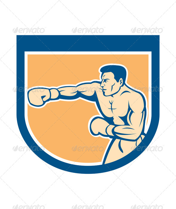 GraphicRiver Boxer Punching Shield 8060428