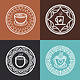 Coffee Mugs on Round Emblems - GraphicRiver Item for Sale