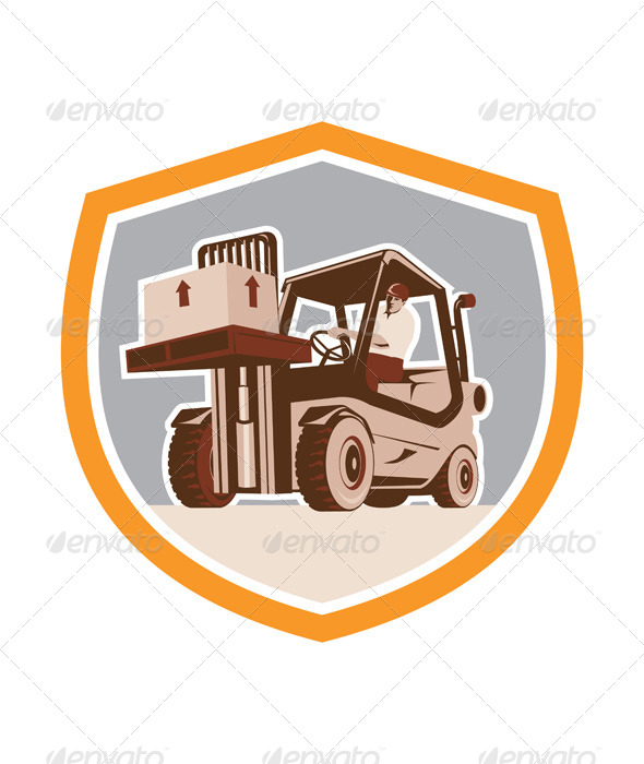 GraphicRiver Forklift Logistics Shield 8060595