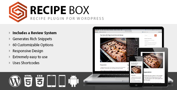 CodeCanyon Recipe Box Recipe Plugin for WordPress 8060635