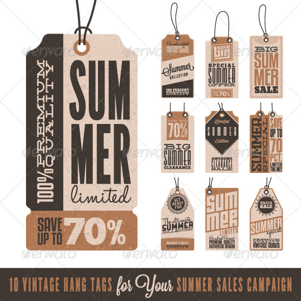 GraphicRiver Summer Sales Related Hang Tags 8060854