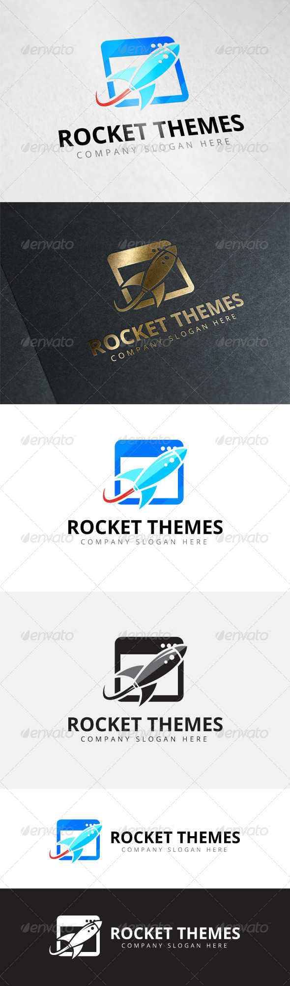 GraphicRiver Rocket Themes Logo 8060909