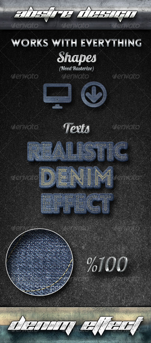 GraphicRiver Realistic Denim Effect 8058545
