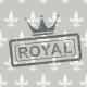 Stamp on Floral Background - GraphicRiver Item for Sale