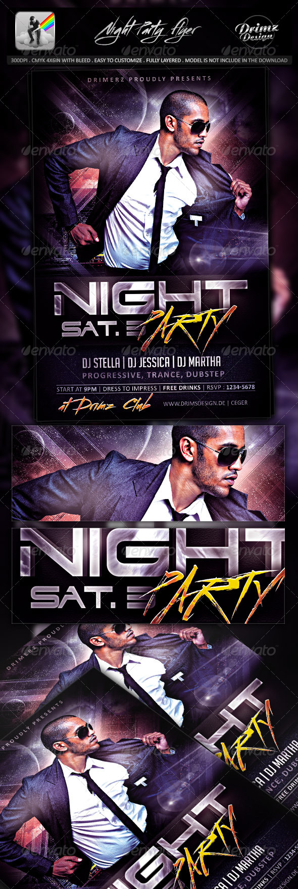 GraphicRiver Night Party Flyer 8060968