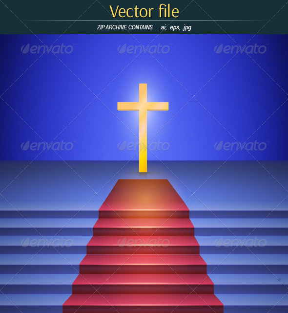 GraphicRiver Scene with Cross 8061014