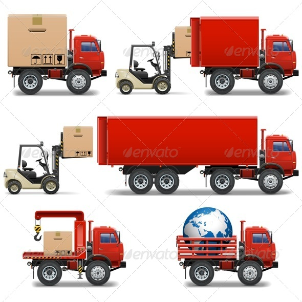 GraphicRiver Vector Shipment Icons Set 34 8061060