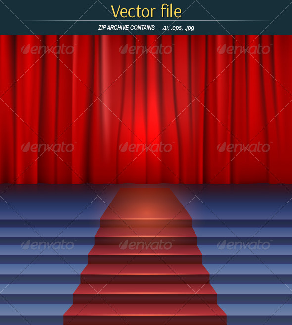 GraphicRiver Scene with Curtain 8061063