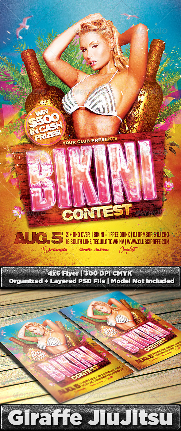 GraphicRiver Bikini Contest Flyer Template PSD 8061264