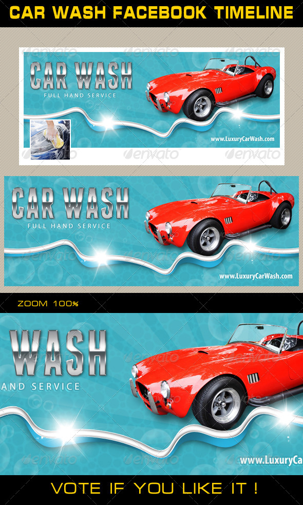 GraphicRiver Car Wash Facebook Timeline 01 8061493