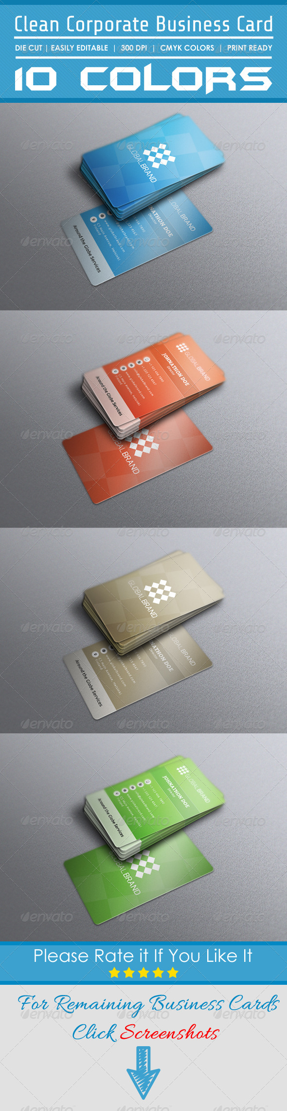 GraphicRiver Clean Corporate Business Card 8051115