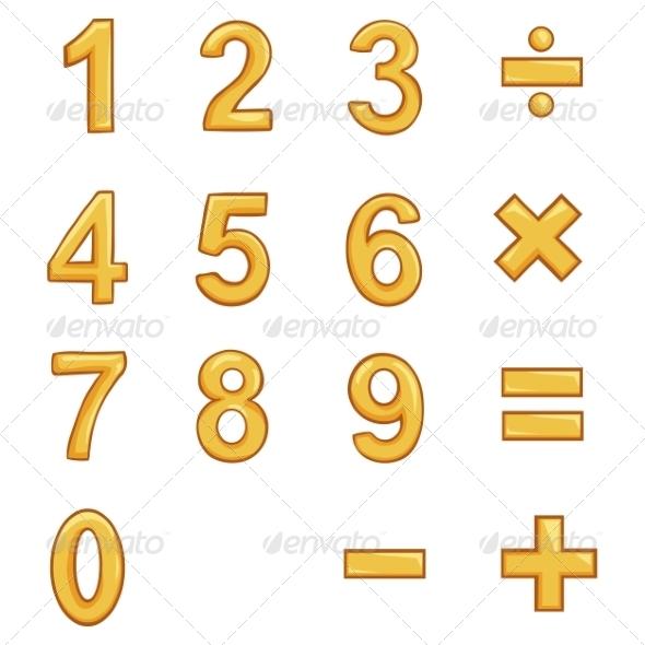 GraphicRiver Vector Set of Gold Cartoon Figures 8061601