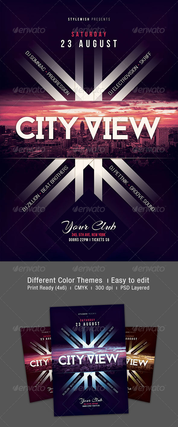 City View Flyer - Clubs & Parties Events