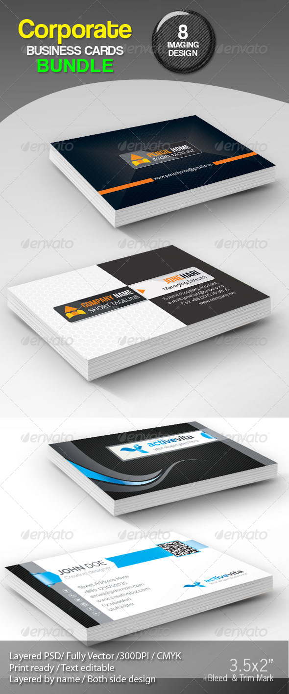 GraphicRiver Corporate Creative Business Cards Bundle 8031101