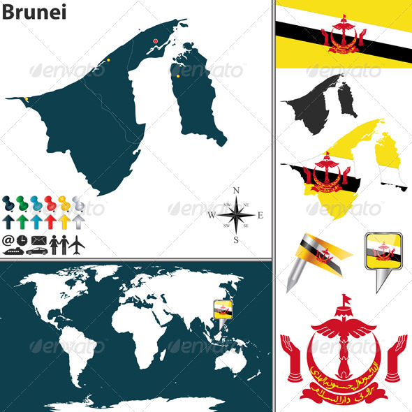 GraphicRiver Map of Brunei 8061758