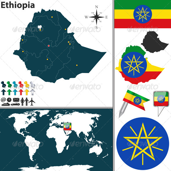 GraphicRiver Map of Ethiopia 8061761
