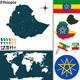 Map of Ethiopia - GraphicRiver Item for Sale