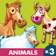 Animals Farm - Horse, Cow, Sheep - GraphicRiver Item for Sale