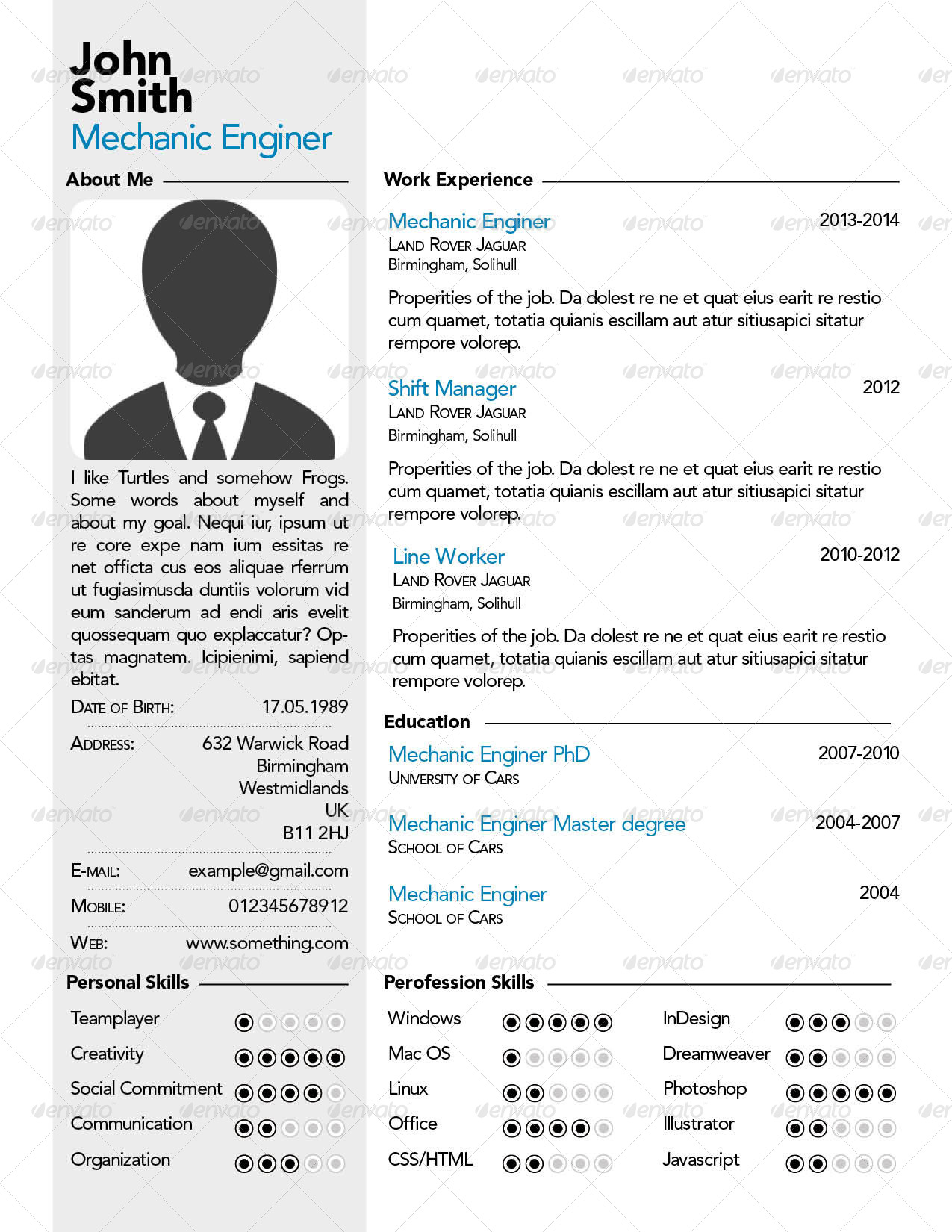 simple professional resume cv by szeszil graphicriver simple professional resume letter jpg
