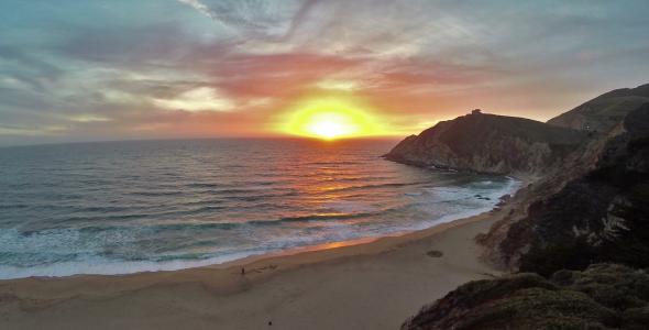 Sunset Beach Aerial 2-Pack