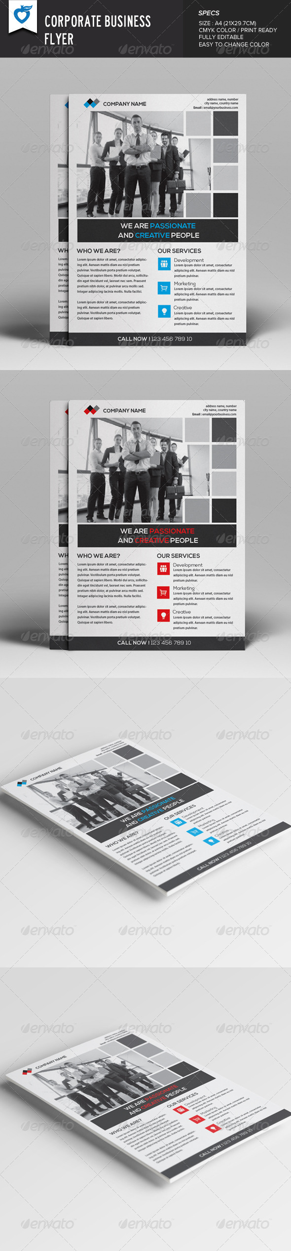 GraphicRiver Corporate Business Flyer v12 8062481