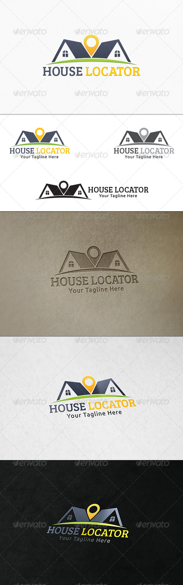 GraphicRiver House Locator Logo Template 8062587