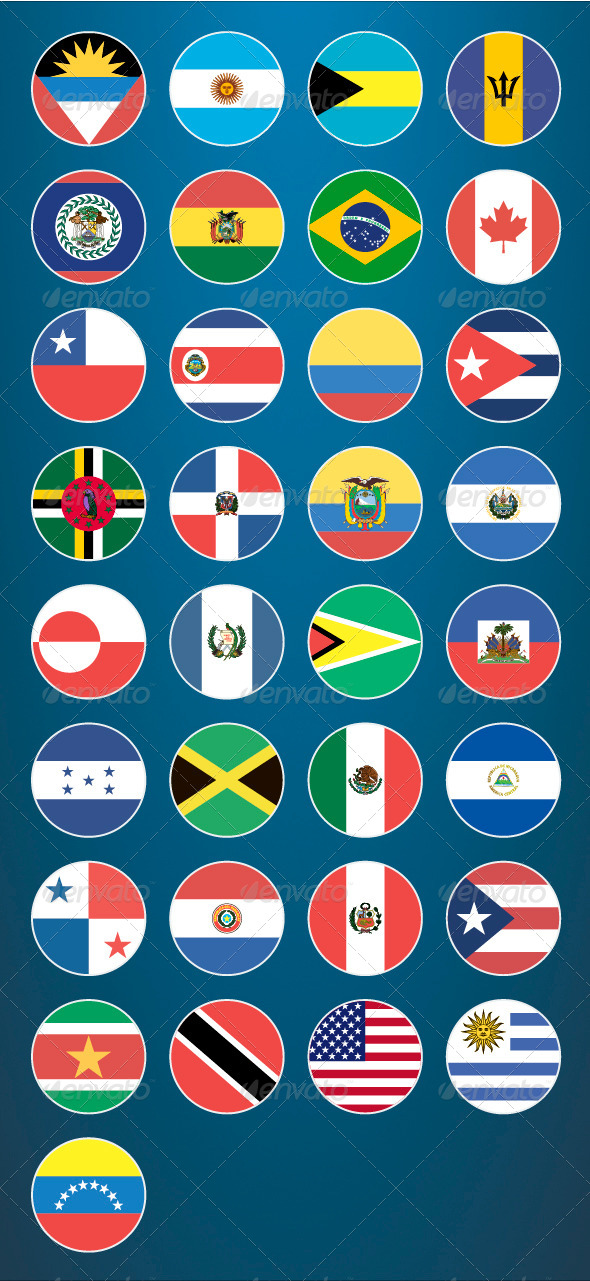GraphicRiver Flat Flag Icons American Countries 8062889