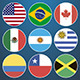Flat Flag Icons American Countries - GraphicRiver Item for Sale